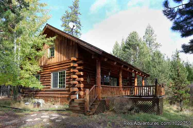 Maluhia Log Cabin - DiamondStone Guest Lodges,  gems of Central Oregon