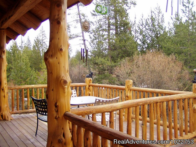 Cabin Deck - DiamondStone Guest Lodges,  gems of Central Oregon