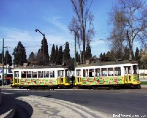 Antique electric old trams - Lisbon Tours by Air-conditioned SUV