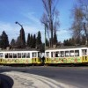 Antique electric old trams