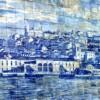 old tile mural