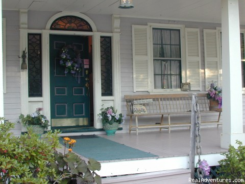 Welcoming front entrance -  Romantic, acclaimed 1794 Watchtide...by the Sea!