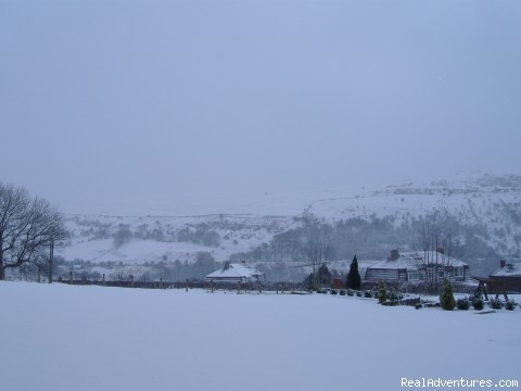 Snow at Penrhadw Farm - Penrhadw Farm & Holiday Homes