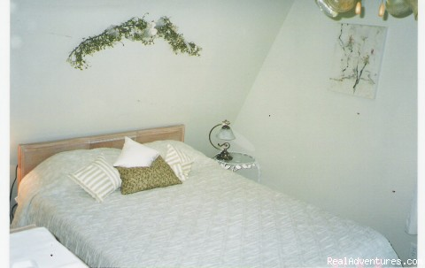 Queen Bed in West Room - Old Miller Trout Farm and Guest House
