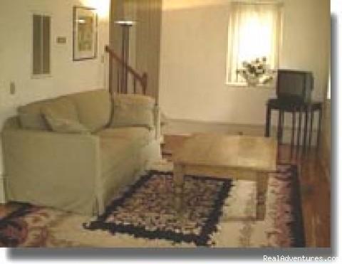 Charleston SC's Charlotte Street Cottage Living Room