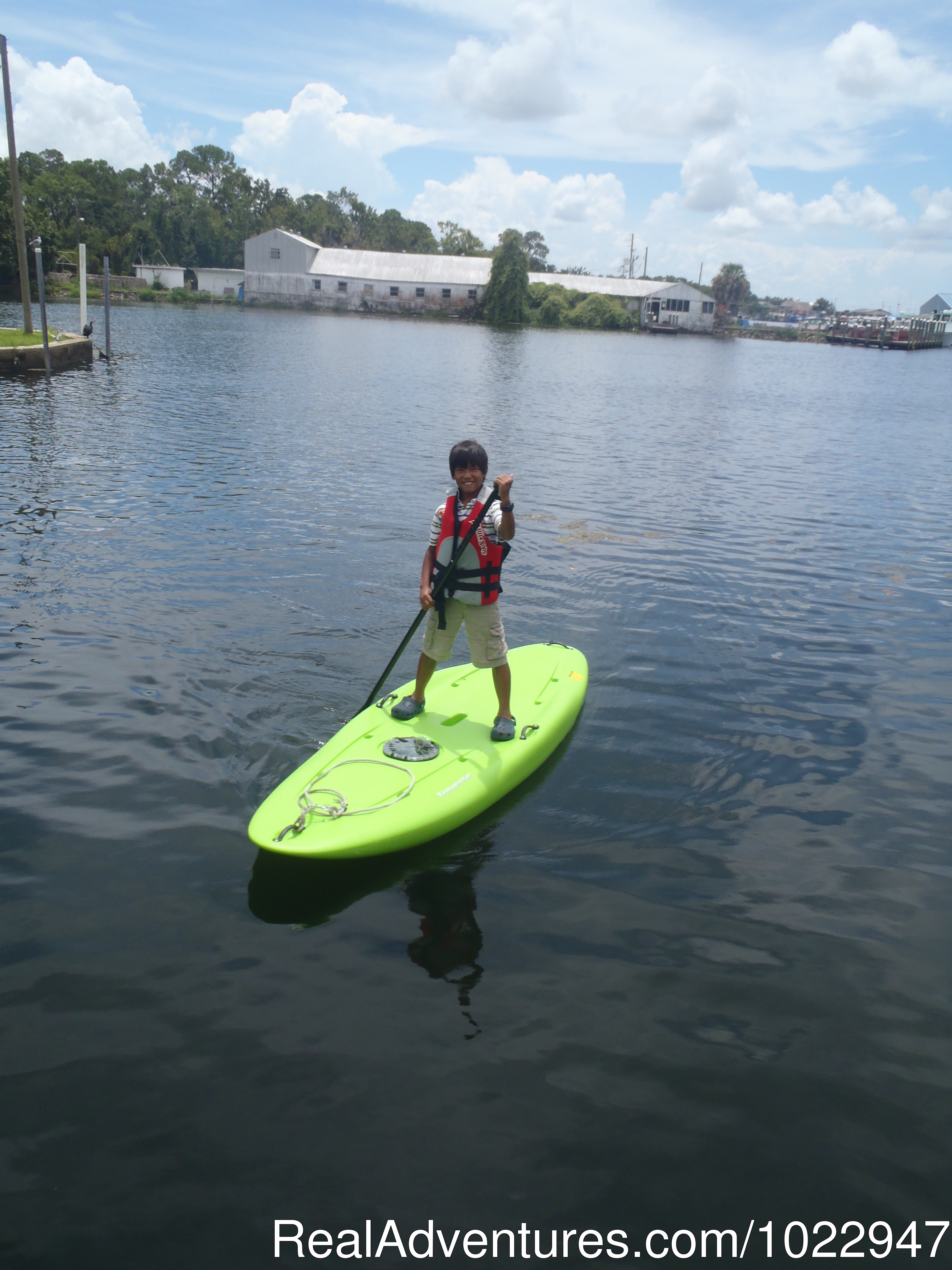 Paddle boarding on Kings Bay