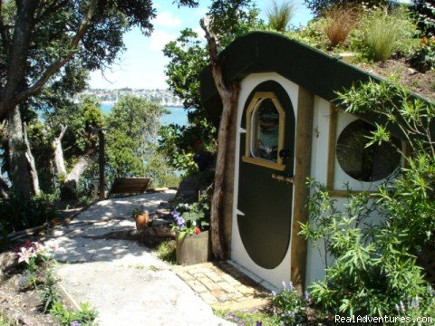 Hobbit House in garden