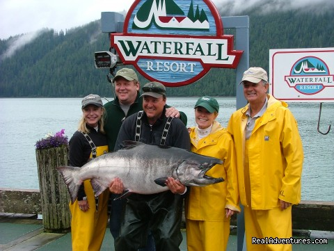 Legendary Alaska Sportfishing - Waterfall Resort Waterfall Resort - Where Fishing is For Kings!