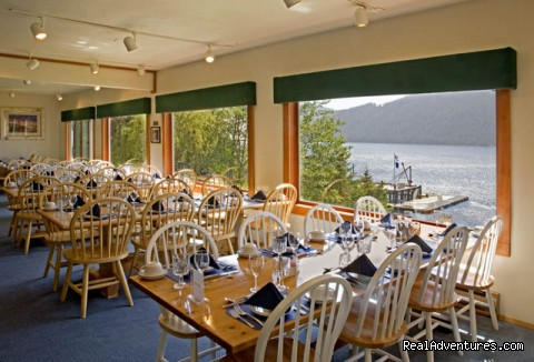 Guest Dining Area - Legendary Alaska Sportfishing - Waterfall Resort