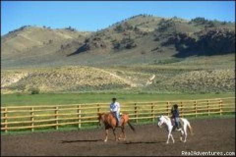 Arena practice - Laramie River Dude Ranch