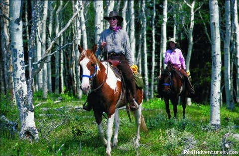 Riding the Aspen - Laramie River Dude Ranch