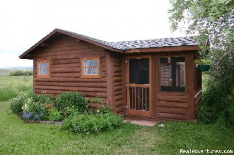 Hand built log cabins - Laramie River Dude Ranch