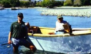Go With the Flow Drift boat fly fishing! Fishing Trips Amberley, New Zealand