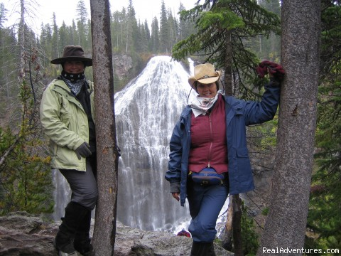 Union Falls - Horseback riding in the Tetons & Yellowstone Park