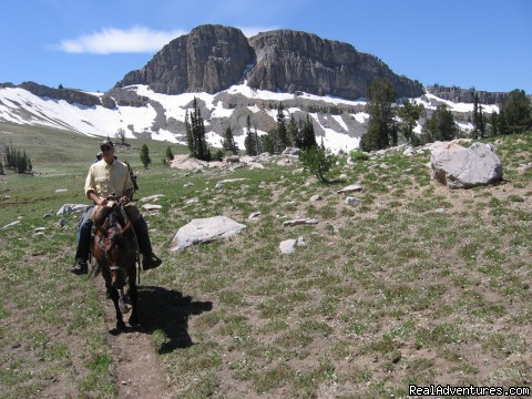 This view is of the Head of Green Mountain (#17 of 17) - Horseback riding in the Tetons & Yellowstone Park