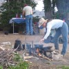 Good old-fashioned campfire cooking!