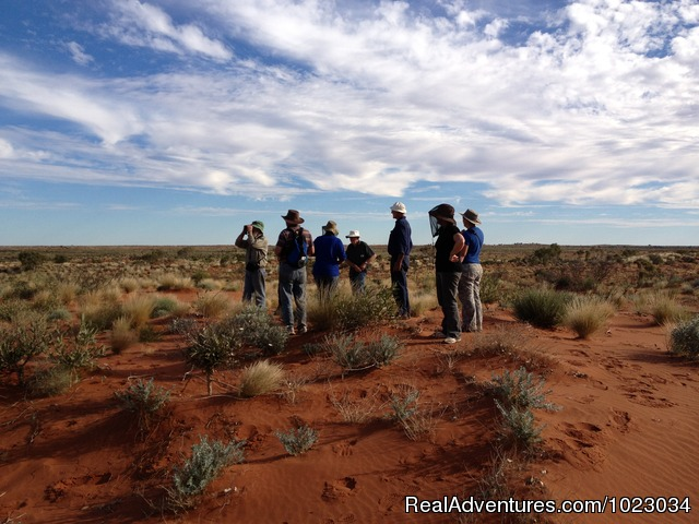 Admiring the great open spaces in the Australian desert. - Escorted Self-drive Tours to Outback Australia