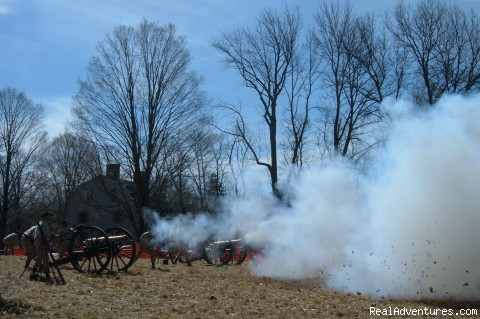 Cannon Battery on Patriot's Day - Hawthorne Inn- Relaxed elegance