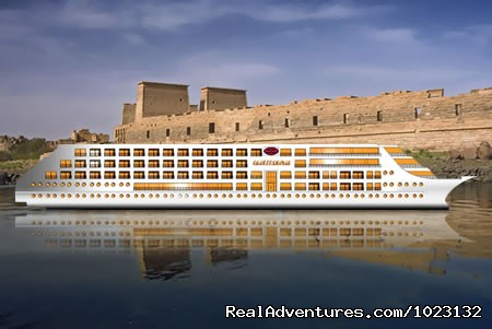 Nile cruise side view - 5 Star Nile Cruise (8 Nights / 9 Days) US$ 509
