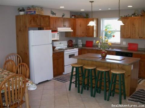 West Upper Suite Kitchen - Creekside Chalet