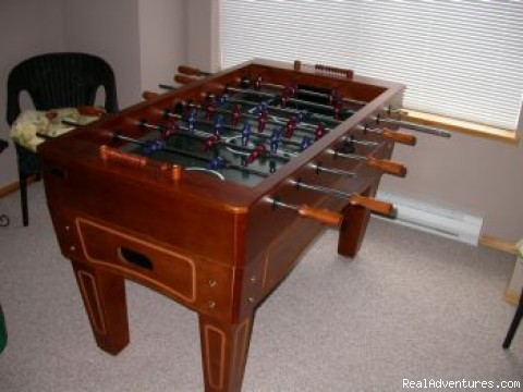 Foosball; available in West Upper Suite - Creekside Chalet