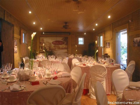 Dining setup in Carriage House - Gloucester Square Inns & Cawthra Square B&B