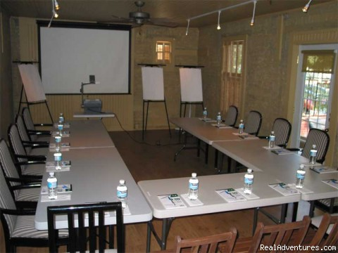 Meeting setup in Carriage House - Gloucester Square Inns & Cawthra Square B&B