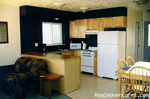 Cabin Kitchen (#3 of 4) - Cast Away Riverside RV Park and Cabins