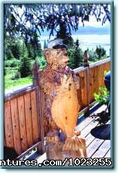 Bear Carving - Almost Home Accommodations