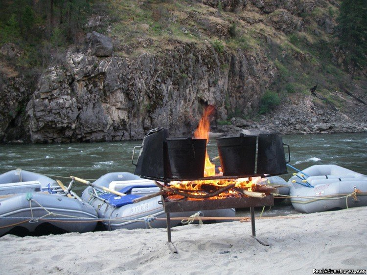 Campfire on the Main Salmon, ID | Image #2/16 | Family Rafting Vacations on Famous Western Rivers