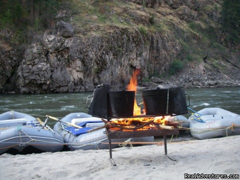 Campfire on the Main Salmon, ID - Family Rafting Vacations on Famous Western Rivers