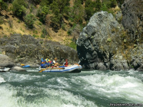 Entering Blossom Bar Rapid, Rogue River - Family Rafting Vacations on Famous Western Rivers