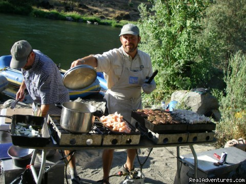 Cooking up a feast on the Rogue River - Family Rafting Vacations on Famous Western Rivers