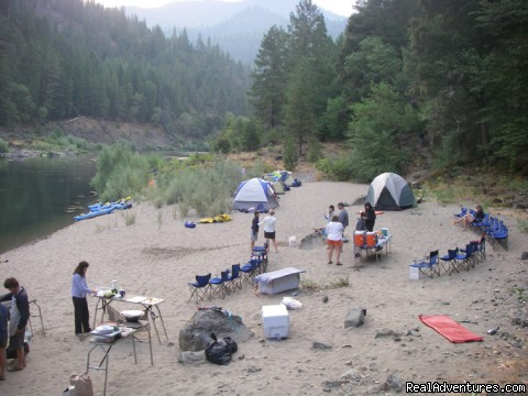 Camping along the Rogue River - Family Rafting Vacations on Famous Western Rivers