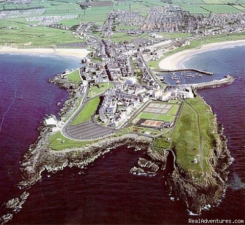 Air view of Portrush - Aaranmore B&B Accommodation, Portrush Nr Ireland.
