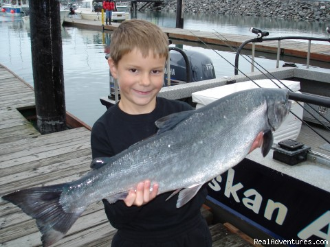 Young people catch fish! - Alaskan Adventure Charters