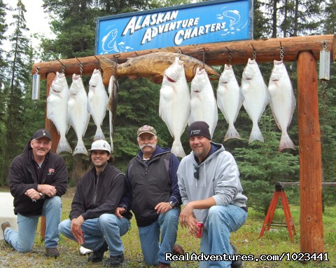 halibut catch - Alaskan Adventure Charters