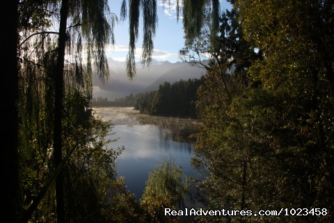 Lake Matheson, South Island - Pedaltours Bbicycle Adventures