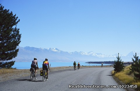 Near Mt Cook, South Island - Pedaltours Bicycle Adventures