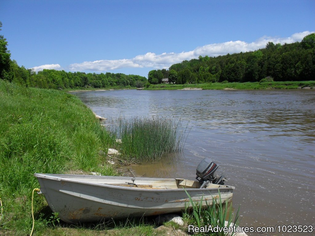 Boat at the Rosewood Shore of the Saugeen River