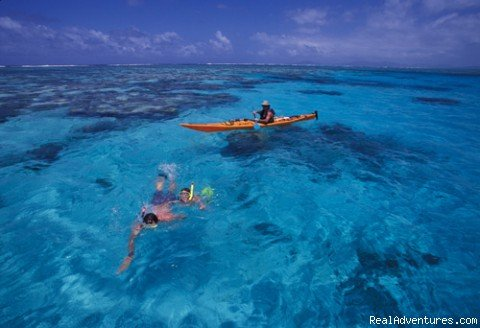 Kayaker and snorkellers | Image #3/9 | Sea-kayak Fiji