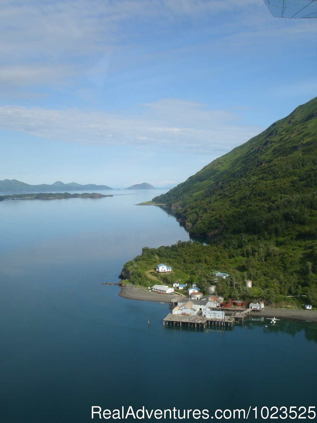 Shot from above of Zachar Bay | Image #2/11 | Alaska's Kodiak Wilderness Sport Fishing
