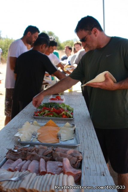 Deli-Style Lunch Served Riverside - American Whitewater Expeditions Rafting Adventures