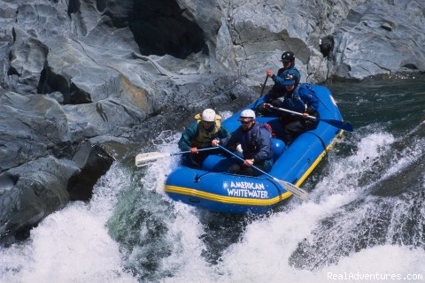 North Fork American River - Chamberlin Falls - American Whitewater Expeditions Rafting Adventures