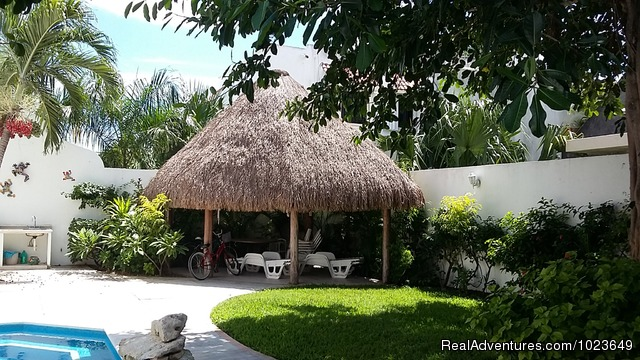 Upstairs living area - Cozumel 4 bd with 2 level pool, garden, hammocks