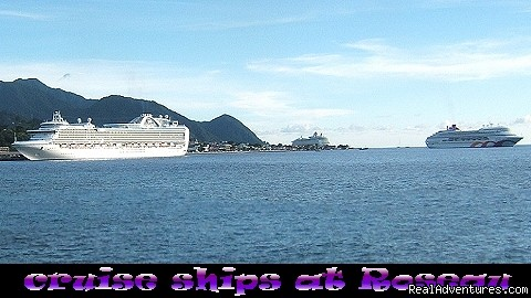 cruise ships - favourite destination, Roseau - Nature Island Destinations Ltd.