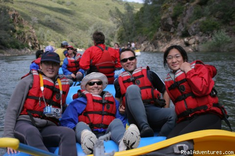 Happy rafters, American River - Mariah Wilderness California Rafting