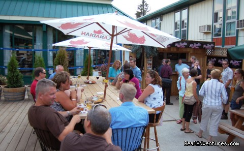 patio dining at the Last Drop - Powder Springs Inn