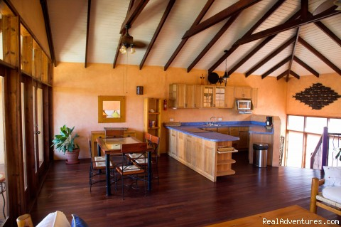 Villa Kitchen & Dining Area - Caribbean adventure starts at True Blue Bay Resort