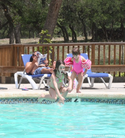 Swimming-Pool Fun - Horsebacking Riding at the Running-R  Ranch